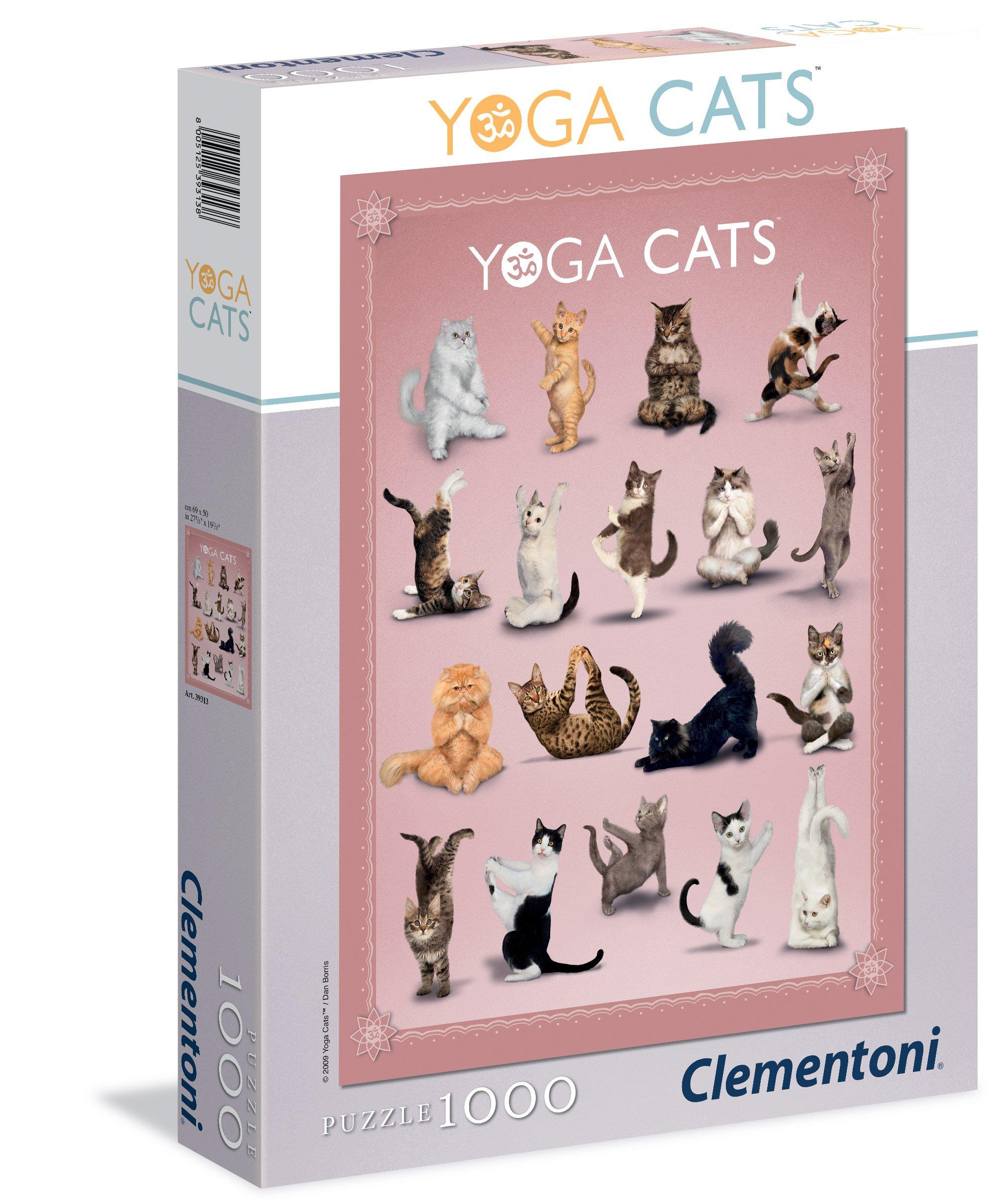 CLem.Пазл. 1000эл. Классика.39313.Дэн Боррис YOGA CATS yoga for cats