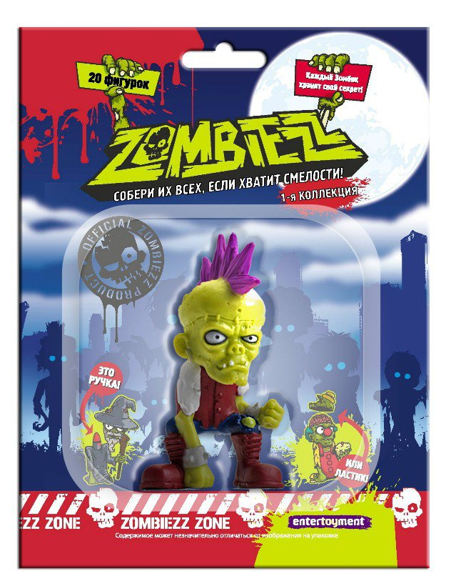 интересно Фигурка Zombiezz 2 в асс. книга