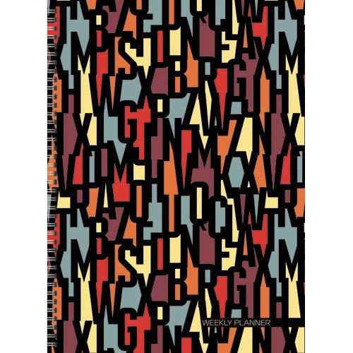 Офисный стиль. Буквенный орнамент (А4, 72л., шир. евроспираль) офисный стиль волнистый орнамент а6 64 л page 3