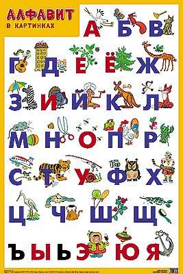 Развивающие плакаты. Алфавит ( Нафиков Р. М.  )