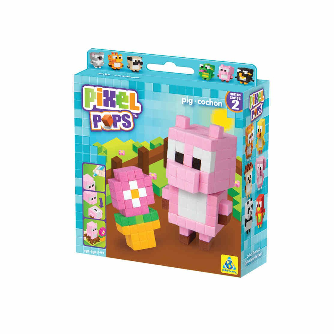Игрушка. Pixel Pops. Поросенок