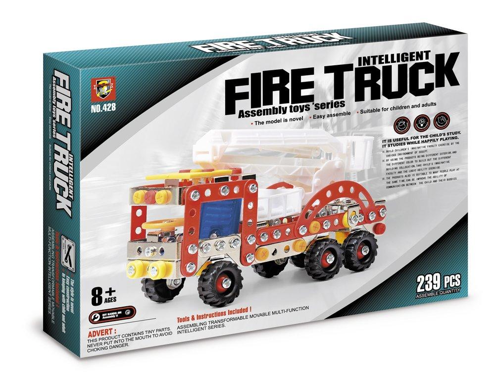 Конструктор метал.  : Я конструктор. Пожарная машина, (239 дет. ) арт.  02283
