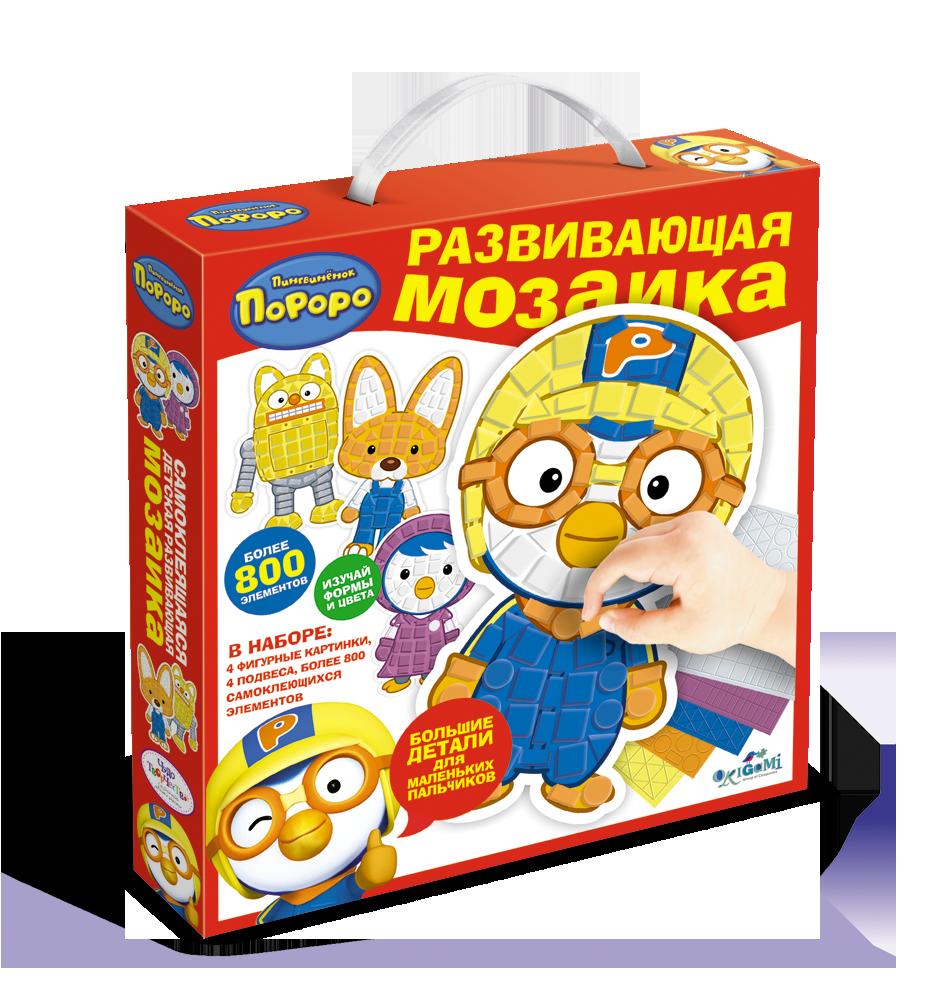 Пороро. Мозаика-набор для малышей. 4 фигурки, 800+ элементов. арт. 02378
