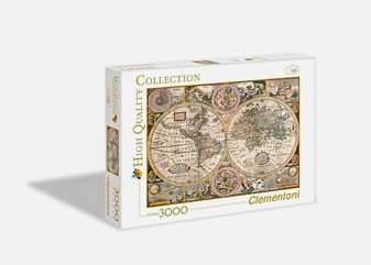Пазл 3000 эл. Древняя карта мира