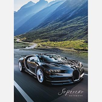 Авто. Черный спорткар (А6, 80 л.)