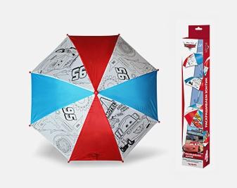 Дисней Тачки 2. Зонтик для раскрашивания. Молния Маккуин и Мэтр. арт. 01336