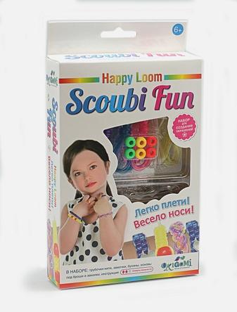 Набор для плетения браслетов для начинающих. Scoubi Fun