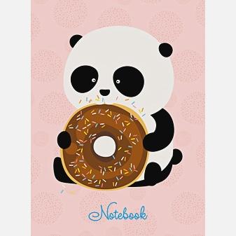 Панда с пончиком