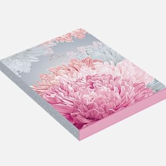 Ежедневник «In Bloom. Астры» недатированный, А6, 128 листов