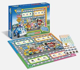 Настольная игра «Робокар Поли. Большая стройка»