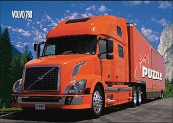 Транспорт и техника. Красный грузовик
