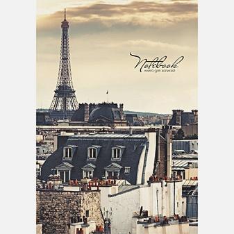 Парижское утро КНИГИ ДЛЯ ЗАПИСЕЙ А5 (ИНТЕГРАЛЬНЫЙ ПЕРЕПЛЕТ)