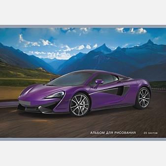 Фиолетовый автомобиль (скрепка, 20л.)