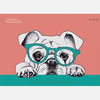 Задумчивый пес (графика)