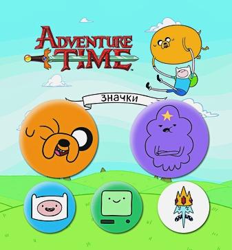"Набор значков ""Adventure time. Вселенная друзей"" (5 шт.)"