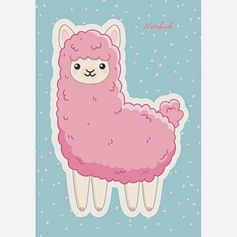 Розовая лама