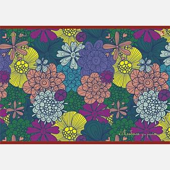 Разноцветные цветы (орнамент)
