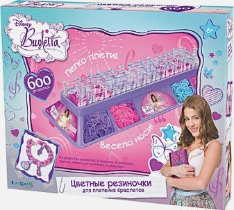 Стильные штучки. Виолетта. Цветные резиночки. Набор в коробке: 600 рез (неон), станок с подставкой для хранения, крючок, подвески, зам-ки  арт. 01162