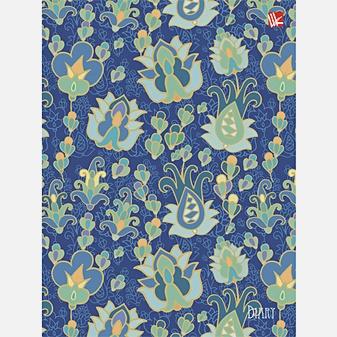 Орнамент. Синие цветы 112л. А6+