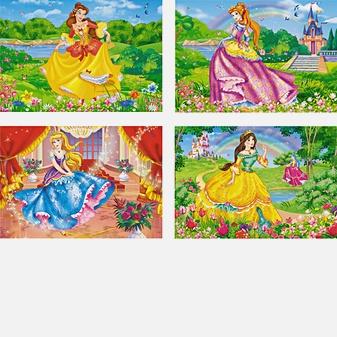 Принцессы (Принцессы на прогулке,Принцесса возле замка,Принцесса у озера,Прекрасная принцесса)