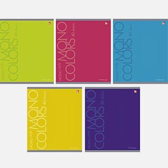Тетрадь в линейку «Яркие цвета», А5, 40 листов