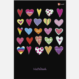 Орнамент. Разноцветные сердечки