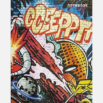Городской стиль. Граффити (А5, 64 л.) КНИГИ ДЛЯ ЗАПИСЕЙ А5 (ИНТЕГРАЛЬНЫЙ ПЕРЕПЛЕТ)
