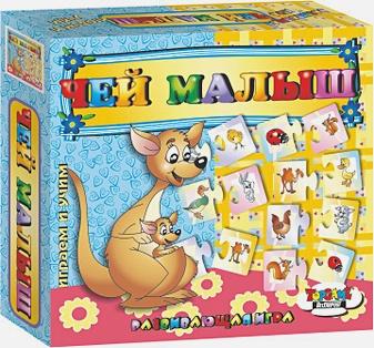 Наст.игр.:ТГ.игра развив.Играем и учим.  42 пазл-карты Чей малыш арт.00222