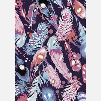 Орнамент. Разноцветные перья