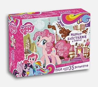 Пони.Пазл.35 гиг.+маркер с блестками.Пряничный дом Пинки Пай.02109