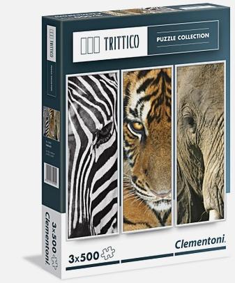 Пазл 3 х 500 эл. Триптих Животные