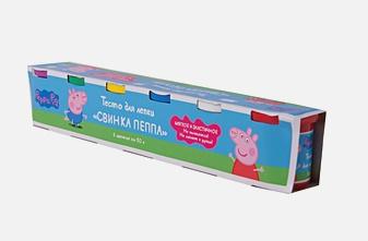 "Свинка Пеппа - Тесто для лепки ""Свинка Пеппа"", 6*50 г обложка книги"