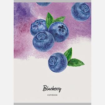 Тетрадь для конспектов в клетку «Ароматные ягоды», А4, 48 листов
