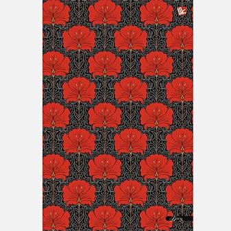 Цветы. Красный орнамент 128л. А5