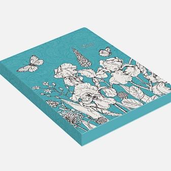Ежедневник «In Bloom. Графика» недатированный, А6, 128 листов