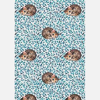 Полосатые котята (орнамент) (А6, 48 л.)