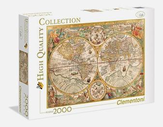CLem.Пазл. 2000эл. Классика.32557 Карта известного мира Петера Планциуса, 1594 год.
