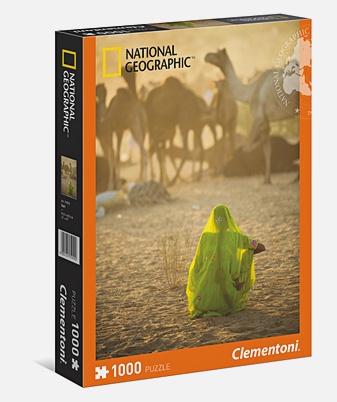 Пазл 1000 эл. National Geographic. Индианка, смотрящая на караван верблюдов