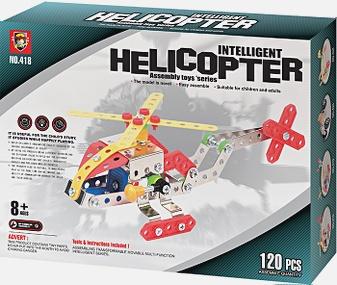 Конструктор метал.  : Я конструктор. Вертолет, (120 дет. ) арт. 00627