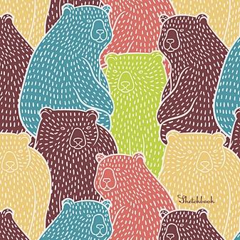 Цветные мишки (квадратный, 80л. Блок без линовки)