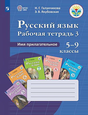 Галунчикова Н. Г. - Галунчикова. Р/т №3 по русскому языку. Имя прилагат. 5-9 кл. обложка книги