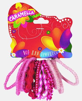 Набор резинок для волос: 14 штук, розовый