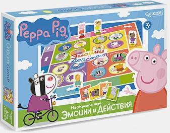 Настольная игра «Свинка Пеппа. Эмоции и действия»