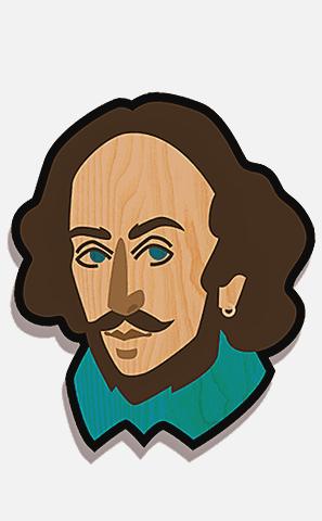 Значок Его Величество Шекспир