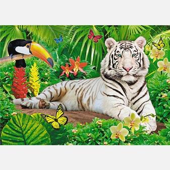 В мире животных. Белый тигр