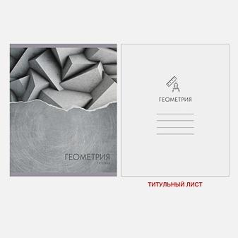 Тетрадь предметная по геометрии Steel light, 48 листов