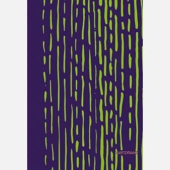 Яркие штрихи (салатовый) (167х246), 96 л. (без линовки)