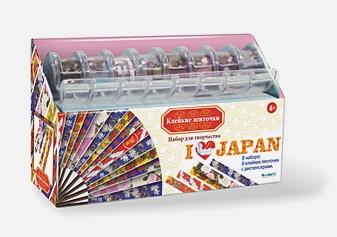 Скрапбукинг. Ленты. Я люблю Японию. 8 шт (1. 2см*2. 8 м) в диспенсере арт. 02045