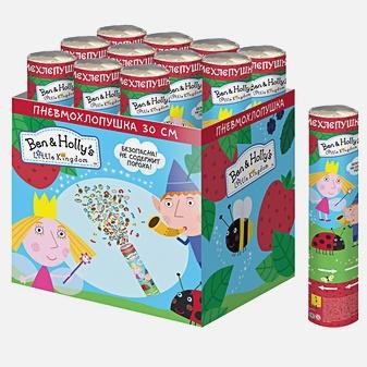 Бен и Холли - Хлопушка Ben&Holly 30 см (конфетти с героями) обложка книги
