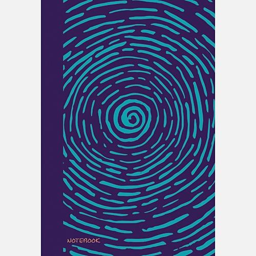 Яркие штрихи (голубой) (167х246), 96 л. (без линовки)